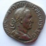 sesterce, Rome 2-3e ém 5e off, 20.63 g, Avers: IMP C M Q TRAIANVS DECIVS AVG