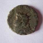 antoninien, Rome, 260/261, 3.65g poids lourd, 3e off,  petit flan épais, A: (GALLI)ENVS AVG     1 ex recencé ds le MIR (352 s)