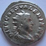 antoninien, Rome, 258, 4.20 g poids lourd, Avers: beau buste habillé: DIVO CAES VALERIANO