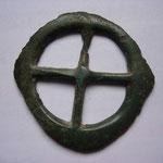 très rare rouelle, 36-37mm de diamètre, belle patine verte, trouvaille région d'Arras