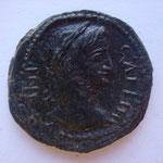 bronze, Trace: COELA 5.68 g , Avers: IMP GALLIH buste lauré à droite