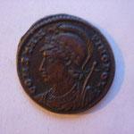 nummus, Avers: CONSTANTINOPOLI, buste de la ville à g, 3.07 g