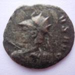 antoninien, 1e off 261-262, 2.05 g, Avers:(GALLIEN)VS AVG buste casqué cuirassé avec haste et bouclier à gauche