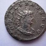 antoninien, 259-264, 4.34 g, Avers: GALLIENVS AVG buste drapé cuirassé à droite, avers corrodé