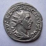 antoninien, Rome 1ére off 252, 2.82 g, Avers:  IMP CAE C VIB TREB GALLVS AVG, rare (R), TTB+
