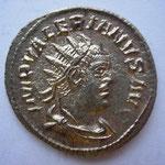 antoninien, Antioche 5e ém 257, 3.39 g, Avers: IMP VALERIANUS AUG