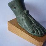 pied de table en bronze représentant...un pied avec chaussure, I - IIe siècle ap JC