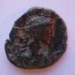 Revers: TROA buste de Tyché à droite, vexillivm derrière elle, TB+ très rare