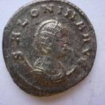 antoninien, Samosate (ou atelier secondaire d'Orient) été - automne 258, Avers: SALONINA AUG