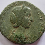 sesterce, Julia Maesa, Rome, 222, 14.32 g poids léger mais diam 28 / 30 mm, A: IVLIA MAESA - AVGVSTA