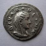 denier de PAULINE épouse de Maximin, 2.54 g, décédée en 235, Avers: DIVA PAULINA