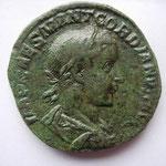 sesterce, Avers: IMP CAES MANT GORDIANUS AUG, 17.81 g, mai-déc 238, Rome 1ére ém 2e officine