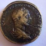 sesterce, Rome juin-juillet 218, 22.57 g, Avers: IMP CAES M AUR ANTONINUS PIUS AUG