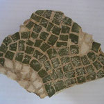 petit morceau de mosaïque romaine, Afrique du Nord (Carthage semble t'il)