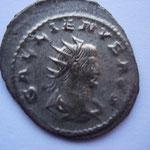 antoninien grand flan, 266-267, 3.56 g, Avers: GALLIENVS AVG buste drapé cuirassé à droite