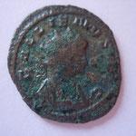 antoninien, Rome 263-264, 5e off, 2.90 g, buste cuirassé à droite, Avers: GALLIENVS AVG