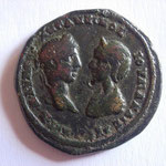 pentassaria, 12.95g, Elagabale et Julia Maesa, Marccianopolis, A/ AVT K M AVP H ANTΩNEINOC IOVΛIA MAICA AVT