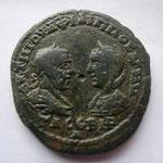 pentassaria de Messembria (Thrace)12.29 g, Avers: AVT M IOVA ФΛIΠΠOC A VT M / TΔCCBNP bustes affrontés de Phil et Otacil