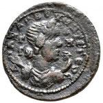 Revers: ANAZAΡBOV MHTΡOΠO, Mariniane (?) sous les traits d'Artemis ou Selene, TTB ach Savoca coins mars 2020
