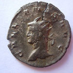 antonnien, 261, 2.63 g, Avers: GALLIENVS AVG , buste cuirassé à gauche, monnaie cassée et réparée