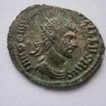 antoninien, 3.06g, Rome 1ére ém 3e officine, argenture, Avers: IMP C M (AVR CL QVIN) TILLVS AVG