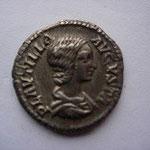 Denier de PLAUTILLE, épouse de Caracalla, Rome 203, 16 éme émission, 7 éme officine, 3.34 g, Avers: PLAUTILLA AUGUSTA
