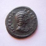 Denier en bronze du limes ss Caracalla, 3.20 g, Avers: IULIA PIA FELIX AUG