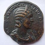sesterce ou dupondius, Rome, 4e ém, 4e off, Rome, 245, 11.58 g, diam: 27/29 mm, Avers: MARCIA OTACIL - SEVERA AVG