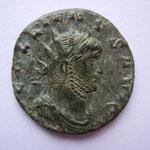 antoninien, Rome, 267, 3.08g, AVERS/ gallienvs avg, lauré à droite, cuirassé et drapé (proche du MIR731k mais portrait différent)