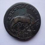 Revers: COL ANTIOCH / SR, la louve allaitant Romulus et Rémus, rare, pr TTB