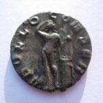Revers: APOLLO CONSER , TTB+, Apollon de face avec une lyre sur un trépied, très rare (RR)