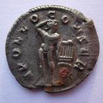 Revers: APOLLO CONSER , TTB+, Apollon de face avec une lyre sur un trépied, rare (R)
