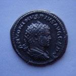 Antoninien, Rome 216, 9éme émission, 5 éme officine, 4.89 g, Avers: ANTONINUS PIUS AUG GERM