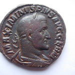 sesterce, Avers: MAXIMINUS PIUS AUG GERM, 17.85 g