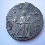 Revers: VENUS VICTRIX, semble rare (monnaie hybride ?) 1 ex ds le trésor d'Eauze pour Valérien, abs pour Gallien, TTB
