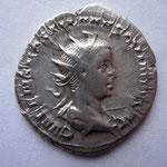 antoninien, Rome 6e off mars-juin 251, 3.29 g, Avers: C VALENS HOSTIL MES QVINTVS N C
