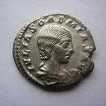 Denier Julia Soemias, mère d'Elagabale, fille de J Maesa, 3.52 g, Avers: IULIA SOEMIAS AUG