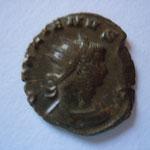 antoninien, Rome 2.06 g, 258-259, 6e off, Avers: GALLIENVS AVG Buste radié et cuirassé de Gallien à droite