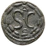 Revers: SC dans une coouronne, Δ-E, TTB, Savoca Coins 25 août 2018 n° 1098