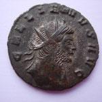 antoninien Rome, 6e émission, 6e officine, 2.55 g, A/ GALLIENVS AVG très rare buste à droite habillé