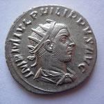 antoninien, Antioche, 5,00 g, mi 247, Avers:  IMP M IVL PHILIPPVS AVG