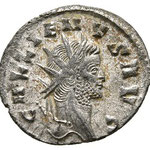 antoninien, Rome, 4e officine, 2,90 g poids léger, 265-266, Avers: GALLIENVS AVG
