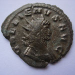 antoninien, Rome, 263/264, 3.09g, 3e officine, Avers: GALLIENVS AVG, buste nu