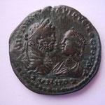 Pentassaria, MARCIANOPOLIS, 12.65 g, Caracalla & Julia Domna bustes affrontés,