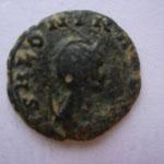 denier, Rome, 1.55 g, Avers: SALONINA AUG flan d'avers défectueux (traces de cassures)