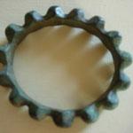 bracelet en bronze à cabochons, trouvaille région champenoise