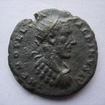 bronze pour DEULTUM en Thrace, 6.10 g,  Avers: IMP M OPEL SEV MACRINUS AU, buste cuirassé radié à droite