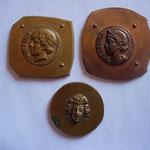 épreuves de médailles imitation d'antiques, XXème, assez rare
