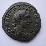 GORDIEN III: Moyen bronze pour Odessus, 8.05 g, Avers: tête jeune de Gordien