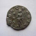 Revers: CONCORDIA, étoile dans le champ évoquant l'arrivée de la pierre noire à Rome, TTB très rare